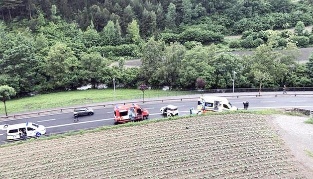 L'accident es va produir a la sortida d'Ordino cap a Sornàs.