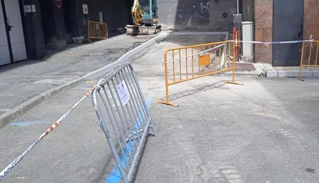 Comencen els treballs de millora del carrer Maià del Pas de la Casa