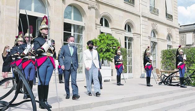 Xavier Espot i Roser Suñé al Palau de l'Elisi.