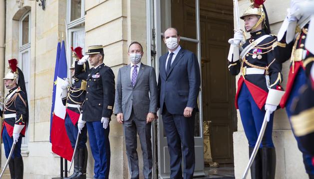 Xavier Espot i Jean Castex a Matignon