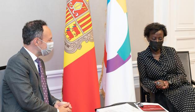 Reunió entre el cap de Govern i la secretària general de la Francofonia d'avui a París