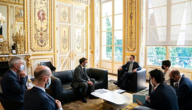 La trobada institucional, la segona al Palau de l'Elisi va ser dilluns