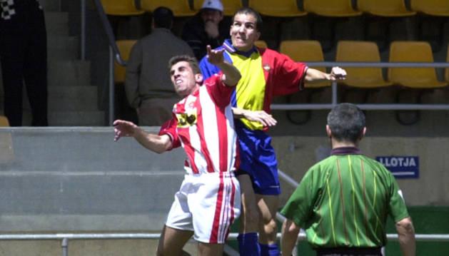 Duel de l'FCAndorra a l'Estadi Comunal contra el Girona.
