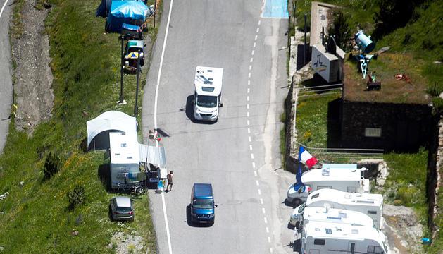 Pujada a Arcalís el Tour del 2016.