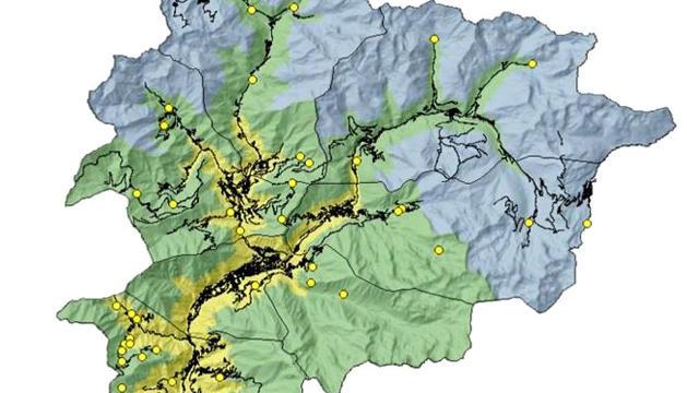 El mapa de risc d'incendi, ahir.