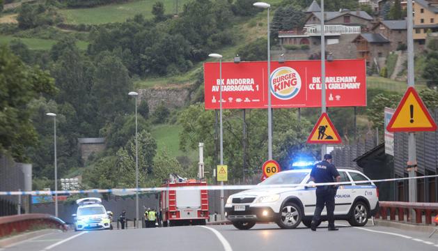 Imatge de la zona de l'accident