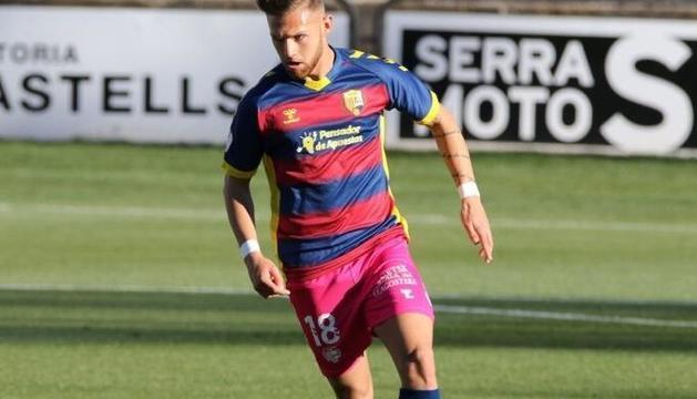 Diego González, durant un partit amb el Llagostera