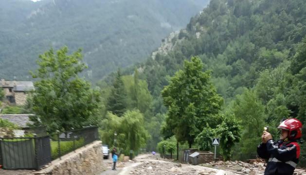 La torrentada de dimarts a Bixessarri.