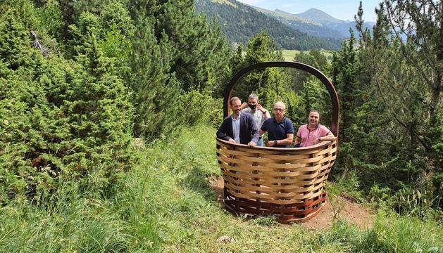 El ministre Jordi Torres Falcó, el cònsol Francesc Camp i el director de producte i nous projectes d'Andorra Turisme, Enric Torres