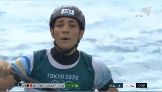 Mònica Doria ha iniciat aquest matí el seu periple olímpic amb l'eliminatòria de caiac.