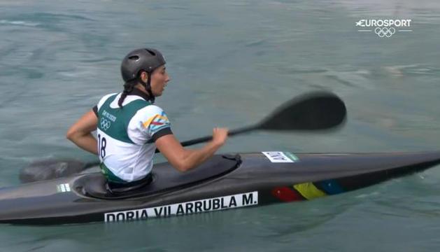 Mònica Doria va assolir la seva classificació per a les semifinals de caiac, ahir.