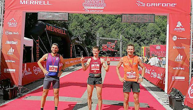 Christian Mathys, Leonard Mitrica i Daniel Antonioli van conformar el podi masculí de la clàssica de 24 quilòmetres.