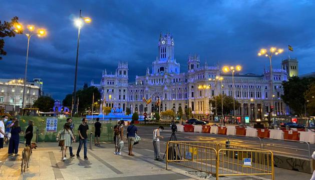 El centre de Madrid moments després de la inscripció.