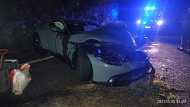 Salva explica l'accident amb l'Aston Martin