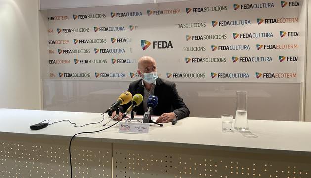 Jordi Travé, durant la roda de premsa