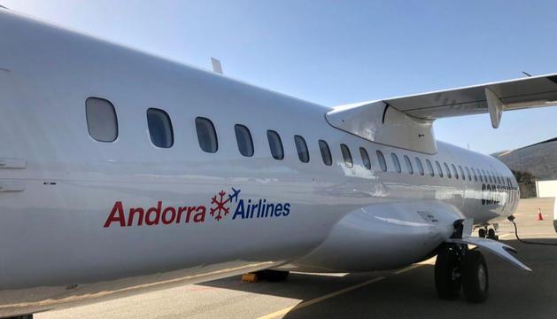 Un dels avions d'Andorra Airlines.