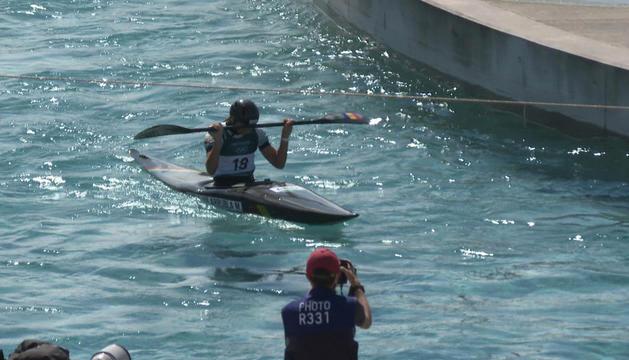 Mònica Doria es va quedar a un pas de poder entrar a la final de caiac, ahir.