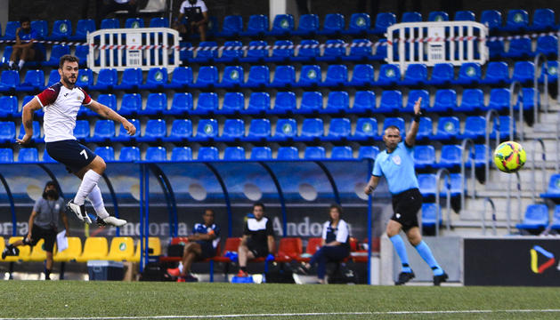 Jugada del gol de Guillaume pel Santa Coloma