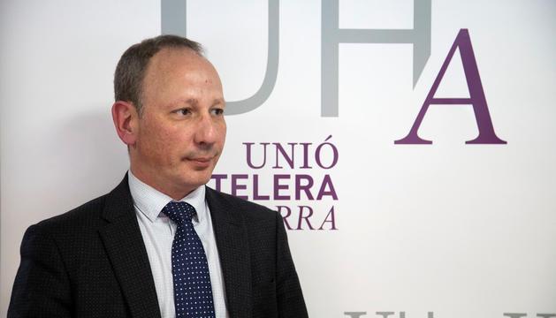 Carles Ramos a les oficines de la Unió Hotelera.