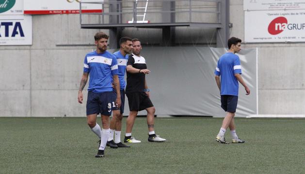 L'FCSanta Coloma va fer ahir l'últim entrenament.
