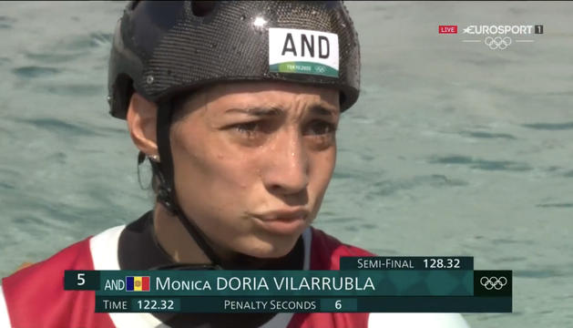 Mònica Doria es va quedar a un pas de poder entrar a la final de canoa, ahir.
