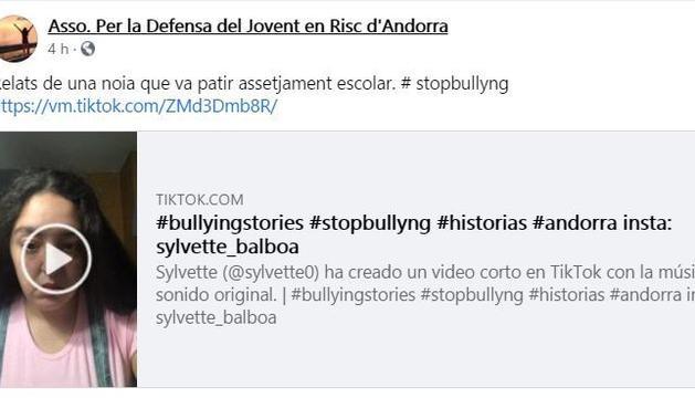 Sylvette Balboa explica a Tik Tok que va patir bullying