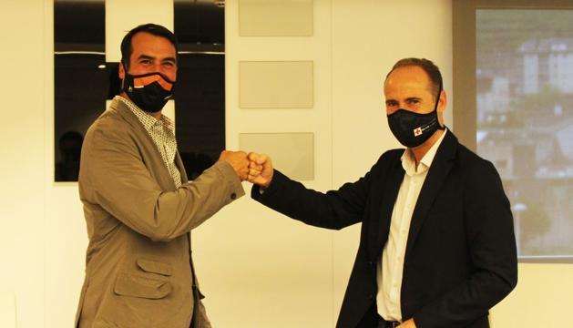 Miquel Angel Armengol i David Fraissinet han signat l'acord