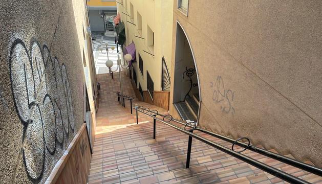 Un dels punts on es preveuen fer canvis al traçat són les escales del Falgueró.