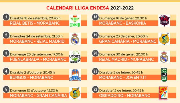 Calendari lliga Endesa