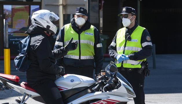 Control a una motocicleta en una campanya anterior