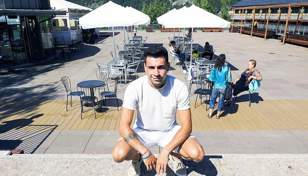Nahuel Carabaña aprofita les vacances per tornar a Andorra.