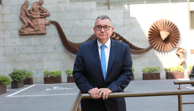 Albert Moles a la seu de FEDA.