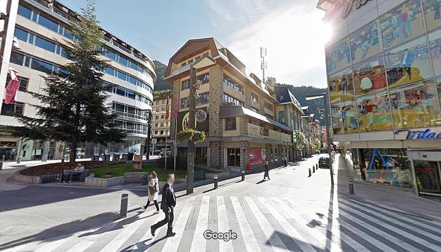 Antic edifici dels bombers, al centre d'Andorra.