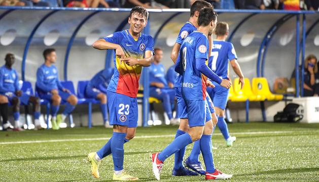 Eudald Vergés va marcar el gol de la victòria al minut 33.