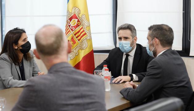 La delegació tècnica del CBE s'ha reunit amb els ministres Eric Jover i Marc Ballestà