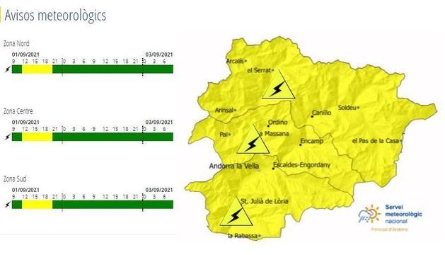La inestabilitat continua present is'espera que arribin precipitacions, localment tempestuoses a partir de migdia