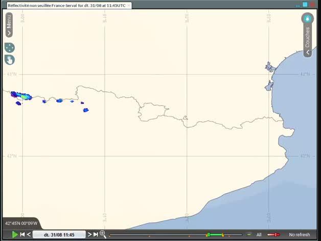 Vídeo radar del Servei de Meteorologia sobre l'afectació de la tempesta de dimarts 31 d'agost