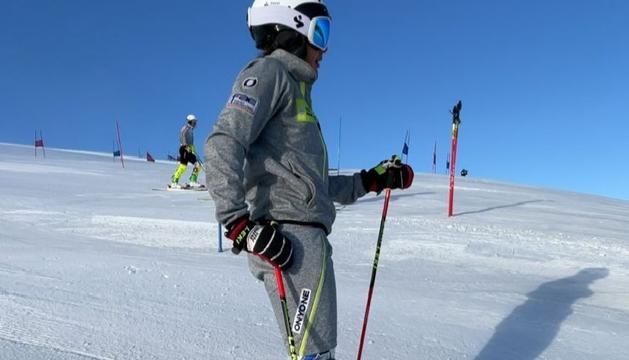 L'esquiadora Cande Moreno continua el procés de recuperació