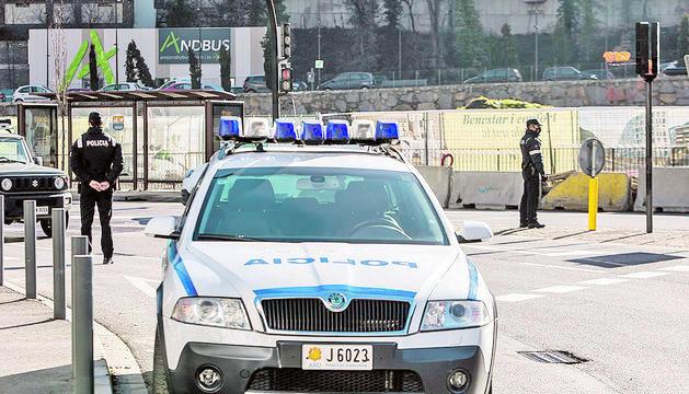 Un control de la policia en una actuació anterior.