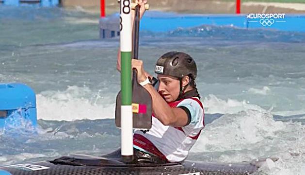 Mònica Doria, als Jocs Olímpics de Tòquio.