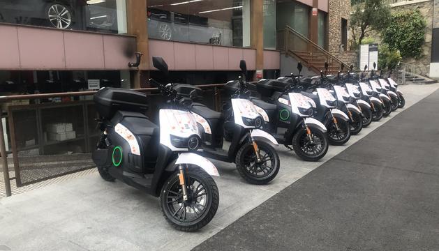 La nova flota d'escúters elèctrics de mobilitat compartida.