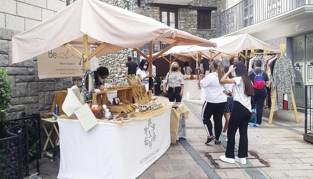 Ambient ahir a la plaça de Sant Esteve.