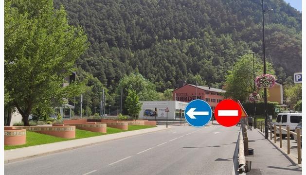 Talls de trànsit a l'avinguda d'Enclar