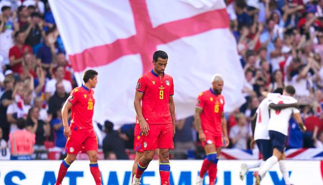 Els jugadors andorrans, capcots pel resultat.