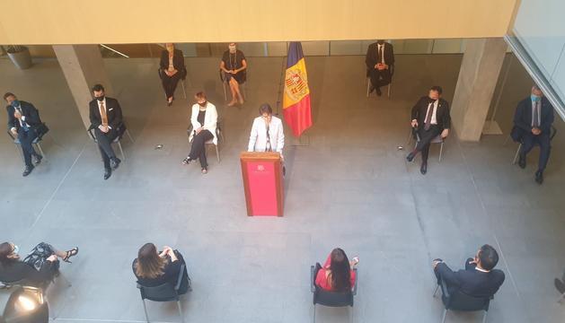 Roser Suñé durant el discurs d'aquest matí al Consell General