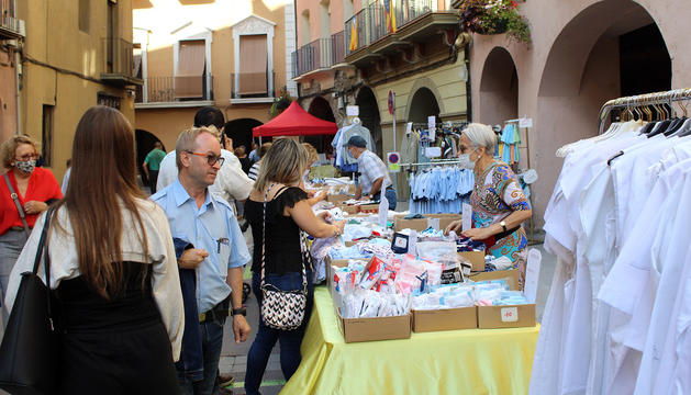 'Tax free' de botigues al carrer a la Seu d'Urgell.