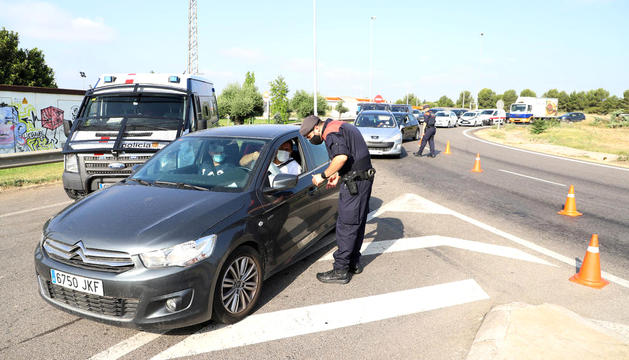 Un control dels mossos d'esquadra.