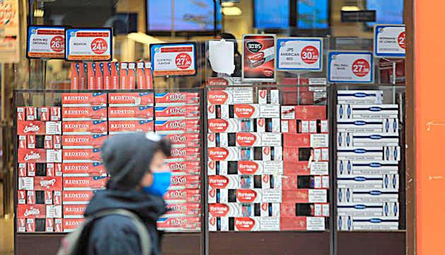 Un comerç de tabac a Andorra.