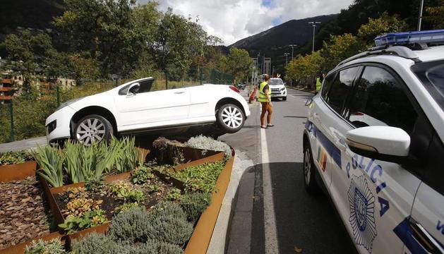 Accident de trànsit a la carretera de l'Obac