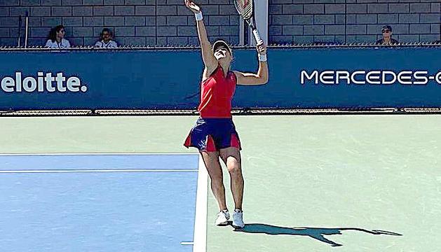 Vicky Jiménez va caure en les semifinals de dobles.